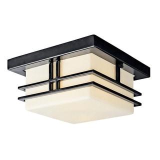 Kichler Lighting Tremillo Collection 2-light Black Outdoor Fluorescent Flush Mount