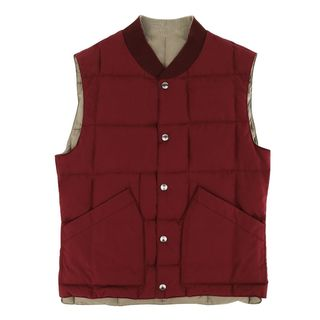 Brunello Cucinelli Burgundy and Beige Reversible Vest