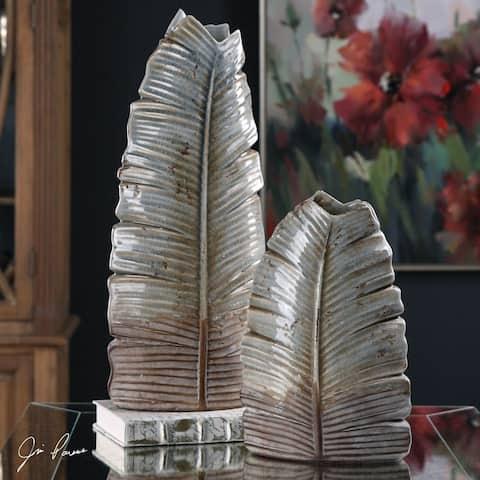 Uttermost Invano Leaf Vases (Set of 2)