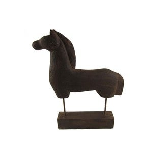 Brown Terracotta Horse Sculpture