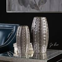 Uttermost Aura Weave Pattern Vases (Set of 2)