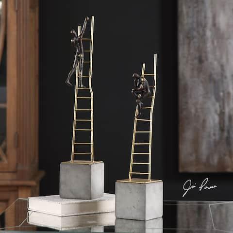 Uttermost Ladder Climb Sculpture (Set of 2)