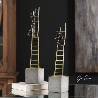 Uttermost Ladder Climb Sculpture (Set of 2)