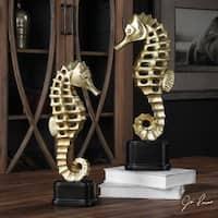 Uttermost Metallic Sea Horse Sculpture (Set of 2)