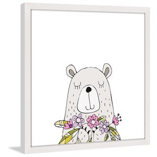 Marmont Hill - 'Square Bear' by Shayna Pitch Framed Painting Print