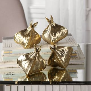 Uttermost Box Fruit Gold Sculptures (Set of 4)