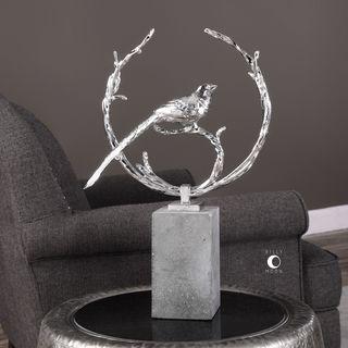 Uttermost Rosana Silver Bird Sculpture