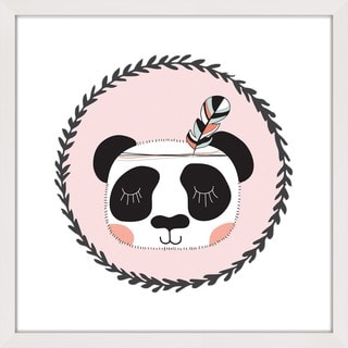 Marmont Hill - 'Panda Feather' by Shayna Pitch Framed Painting Print