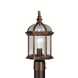 Kichler Lighting Barrie Collection 1-light Tannery Bronze Outdoor Post Mount