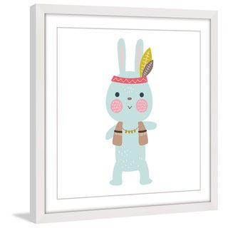 Marmont Hill - 'Hipster Bunny' by Shayna Pitch Framed Painting Print