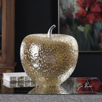 Uttermost Golden Apple Sculpture