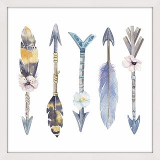 Link to Marmont Hill - Handmade Floral Arrows Framed Print Similar Items in Art Prints