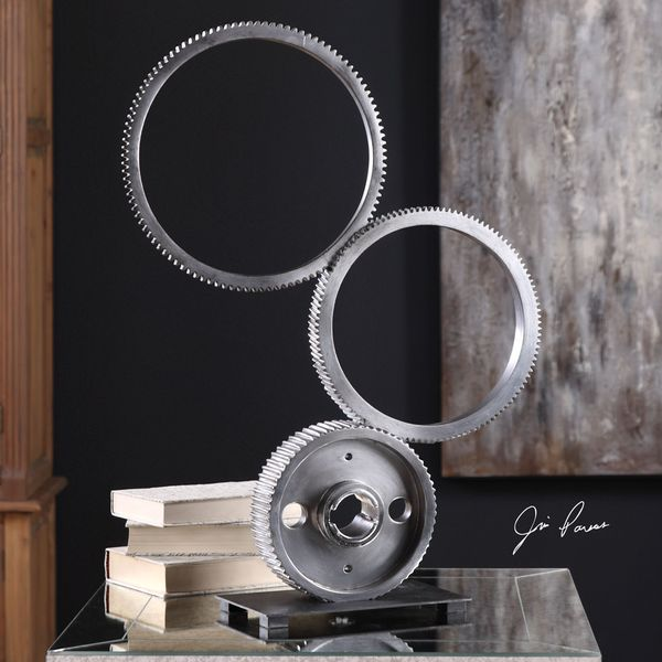 Uttermost Stacked Gears Sculpture