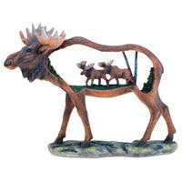 Meese in A Moose Scene Sculpture