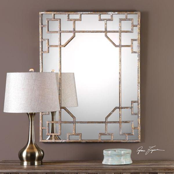 Uttermost Genji Antique Mirror - Antique Black - 27.75x36x1