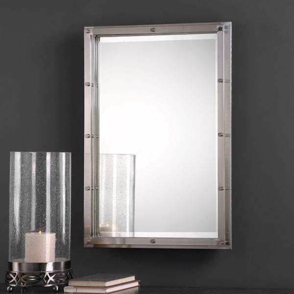 brushed nickel mirror. Uttermost Manning Brushed Nickel Mirror E