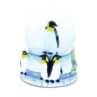 Puzzled Resin and Stone Penguin Snow Globe