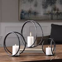 Uttermost Pina Curved Metal Candleholders (Set of 3)
