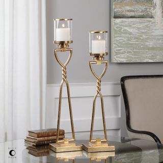Uttermost Susana Gold Candleholders (Set of 2)