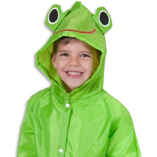 Unisex Children's Green Frog/Red Ladybug/Yellow Duck Raincoat (Option: Green One size fits all)