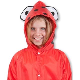 Unisex Children's Green Frog/Red Ladybug/Yellow Duck Raincoat