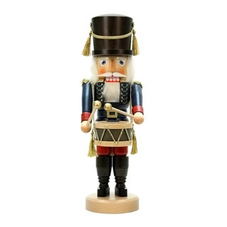 Christian Ulbricht Blue Glazed Wood Drummer Nutcracker