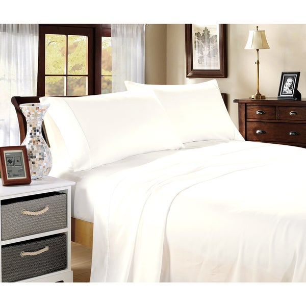 100-percent Cotton 400 Thread Count Sateen Bedding (4-Piece Set)