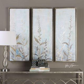 Uttermost Shining Florals Framed Art (Set of 3)