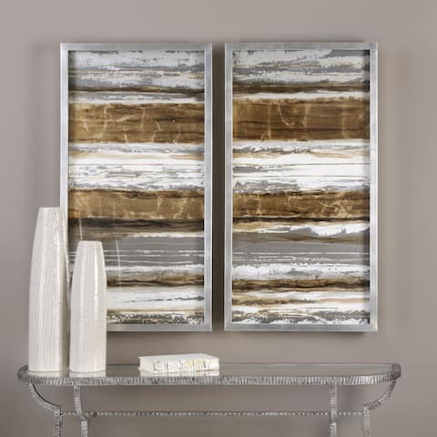 Uttermost Metallic Layers Modern Art (Set of 2)