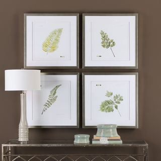 Uttermost Watercolor Leaf Study Prints (Set of 4)