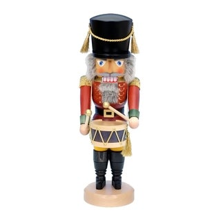 Christian Ulbricht Wood Red Drummer Nutcracker