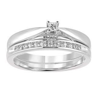 Platinaire 1/6 CTTW Diamond Wedding Bridal Set