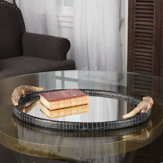 Uttermost Alligator Mirrored Tray
