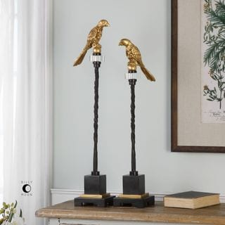 Uttermost Perched Gold & Iron Finials (Set of 2)