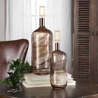 Uttermost Ginevra Glass Bottles (Set of 2)