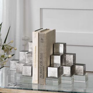Uttermost Valerio Silver Bookends (Set of 2)