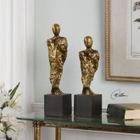 Uttermost Ruggiero Abstract Figurine Gold Sculptures (Set of 2)