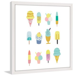 Marmont Hill - 'Ice Cream Styles' by Shayna Pitch Framed Painting Print - Multi
