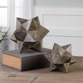 Uttermost Geometric Stars Concrete Sculpture Set/2