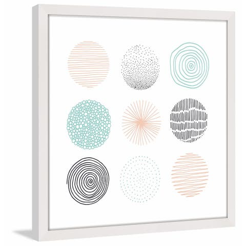 Marmont Hill - Handmade Circles in Patterns Framed Print