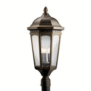 Kichler Lighting Courtyard Collection 3-light Rubbed Bronze Outdoor Post Mount
