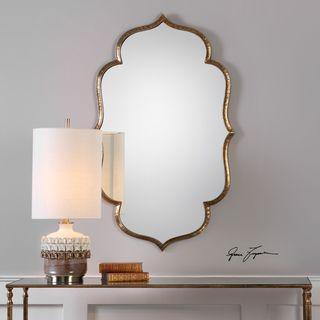 Uttermost Zina Gold Mirror - Antique Black - 23.75x39.25x0.75