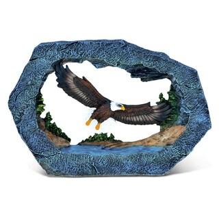 Puzzled 'The Wild Eagle' Multicolored Stone and Resin Decor