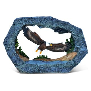 Puzzled 'The Wild Eagle' Multicolored Stone and Resin Decor