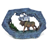 Puzzled The Wild Collection Resin Stone Moose Sculpture