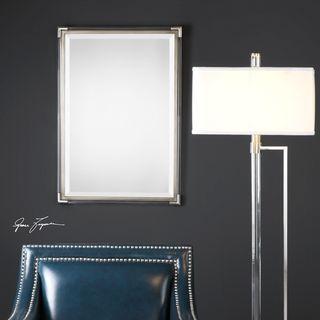 Uttermost Mackai Metallic Silver Mirror - 22.875x32.75x1.375