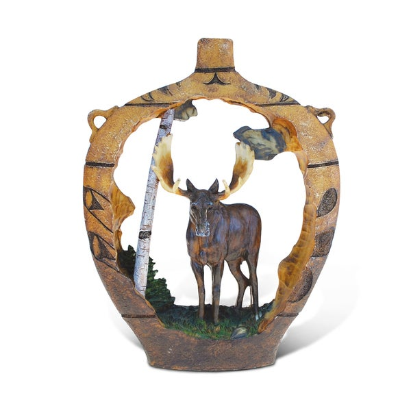 Puzzled The Wild Collection Native Pottery Moose Decor Sculpture