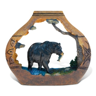 Puzzled The Wild Native Pottery Collection Resin Stone Black Bear Sculpture