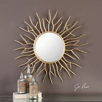 Uttermost Astor Gold Starburst Mirror - Antique Silver - 28x28x1.5