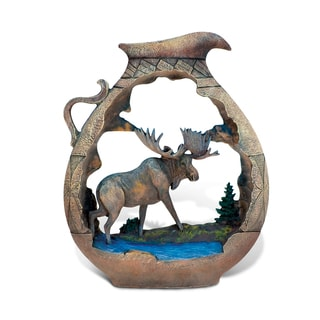 Puzzled The Wild Native Pottery Pitcher Moose Decor Sculpture